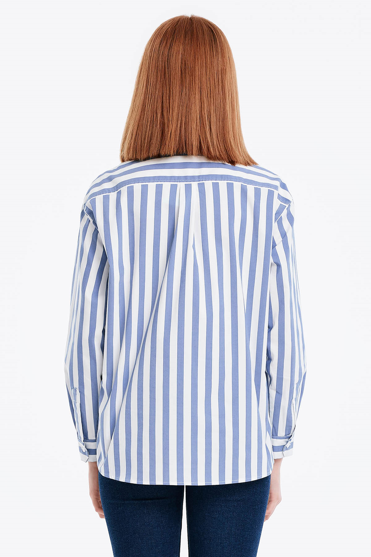 White shirt with blue stripes and a pocket buy in Kiev, price ...