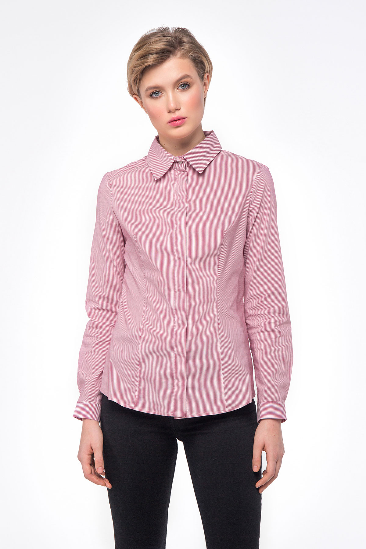 def8978c Pink striped T-shirt photo 5 - MustHave online store