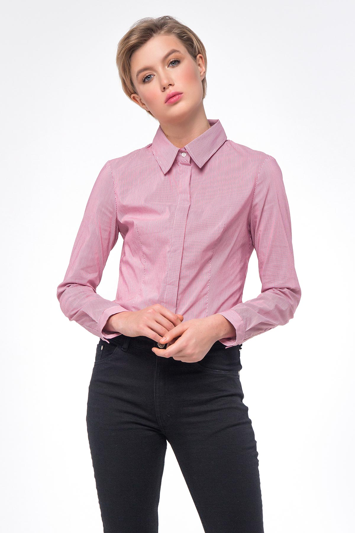 d492f9de Pink striped T-shirt photo 1 - MustHave online store