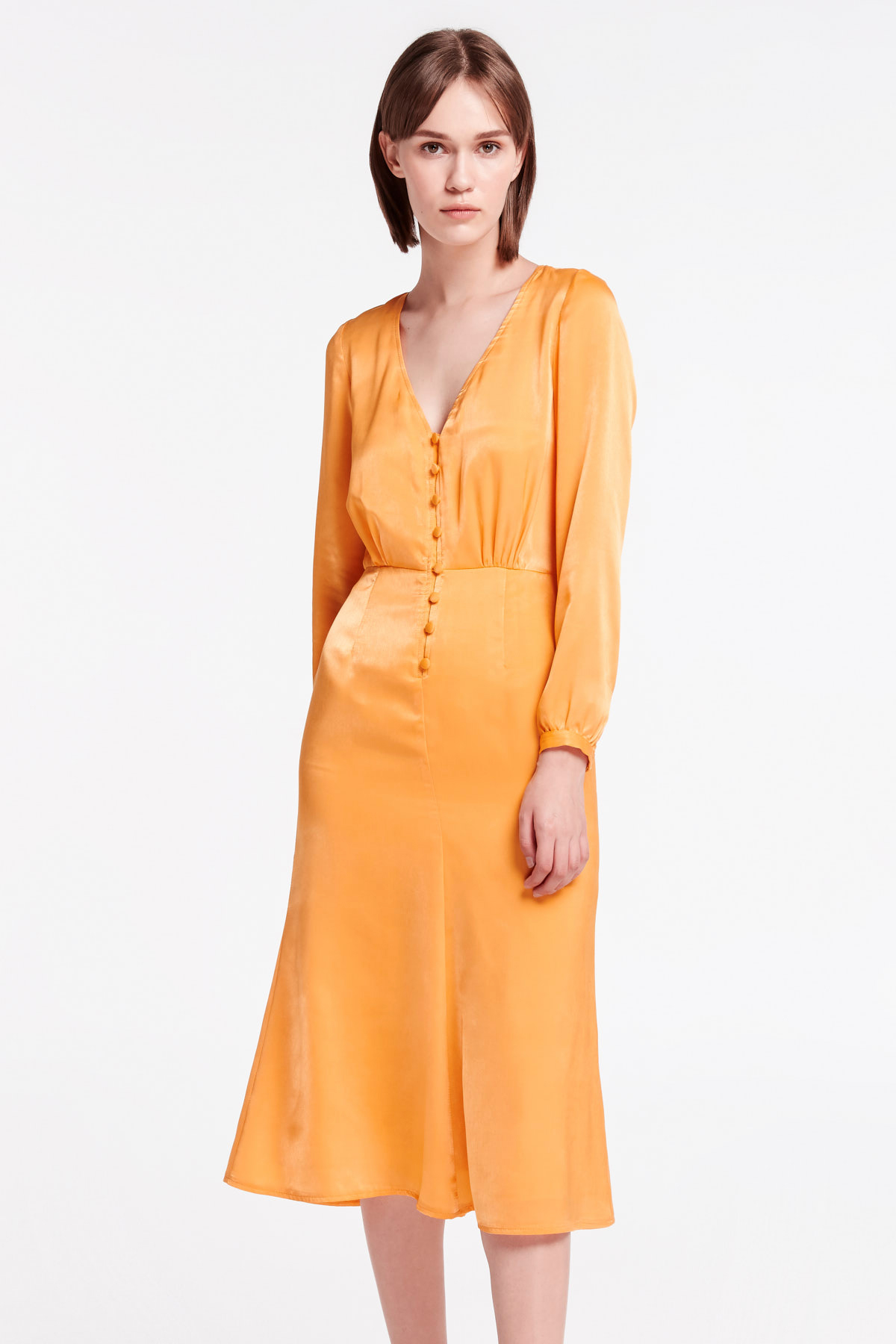 fa3c339c5a2c Yellow midi dress with buttons MustHave ❤ Женские Dresses Sundresses