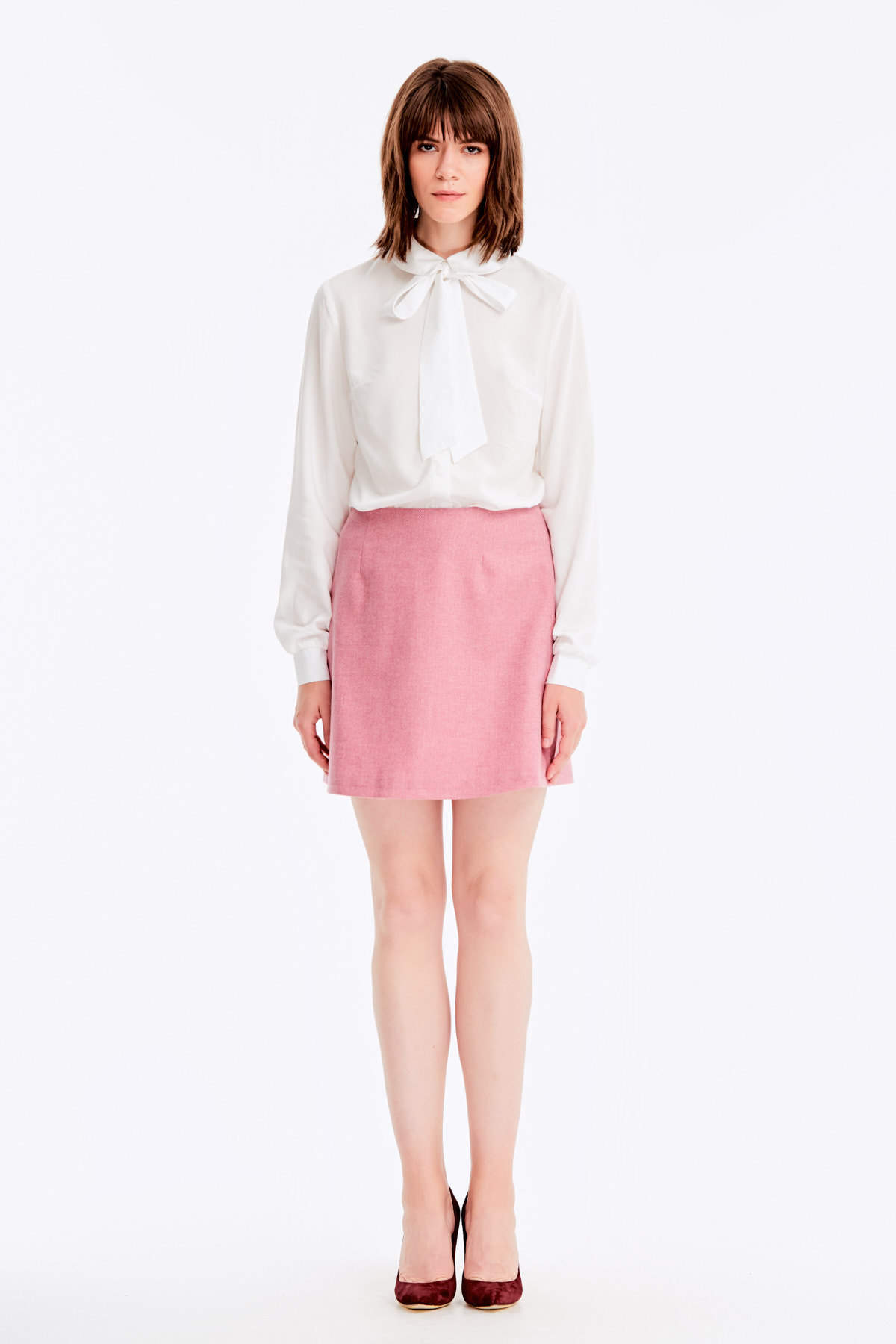 Mini Skirt With Pink Herringbone Printmusthave женские Skirts