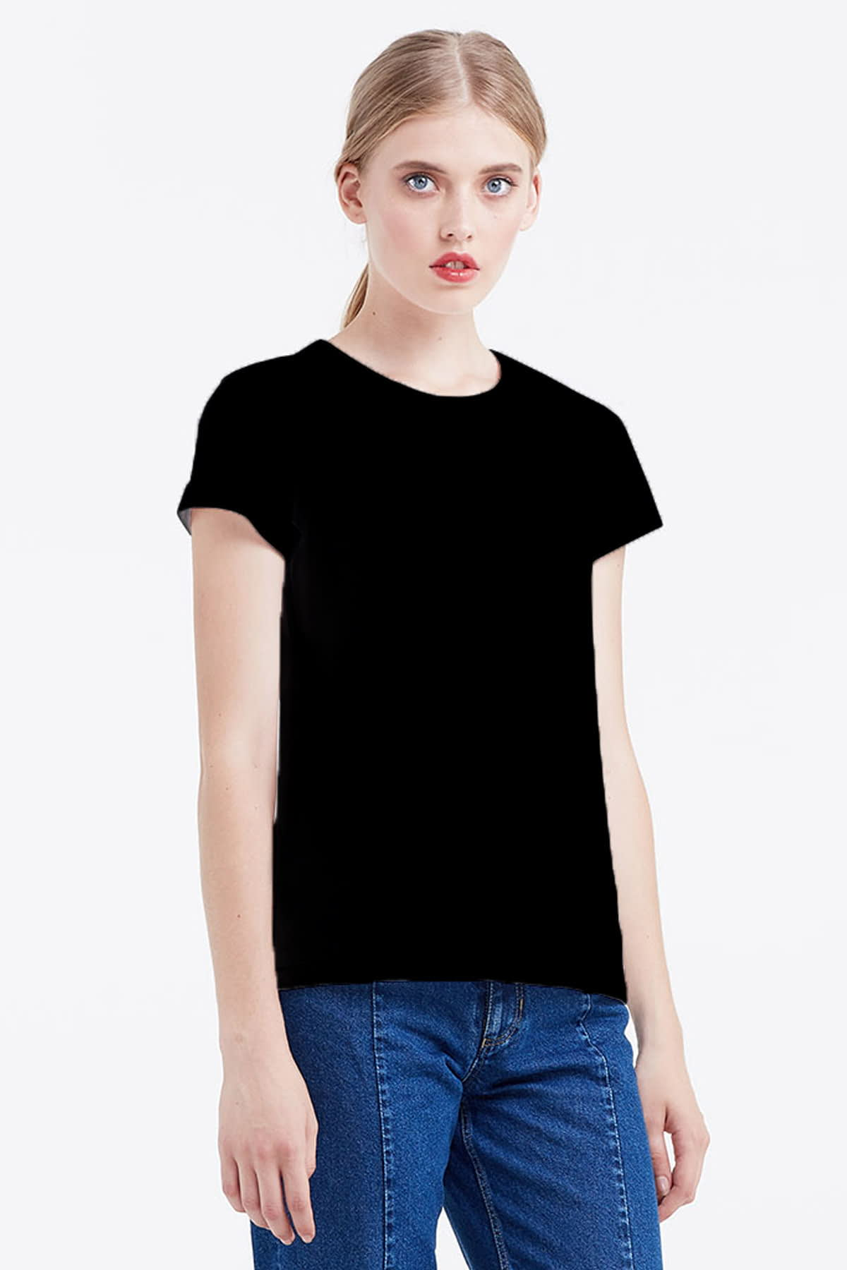 Black T-shirt photo 1 - MustHave online store
