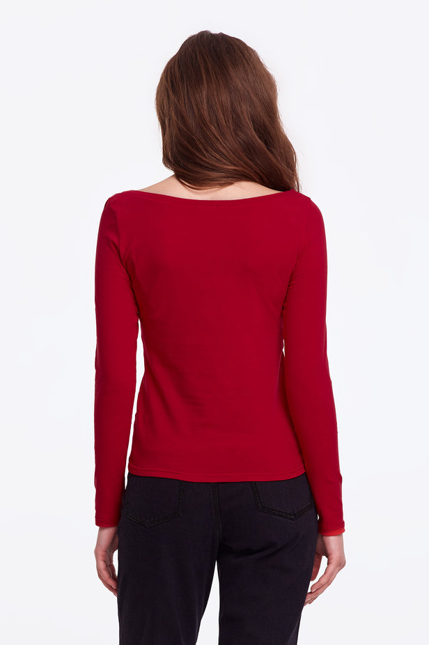 Red jumper photo 3 - MustHave online store