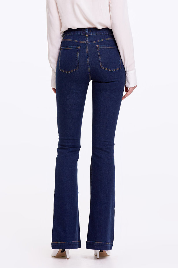 Flared blue jeans photo 4 - MustHave online store