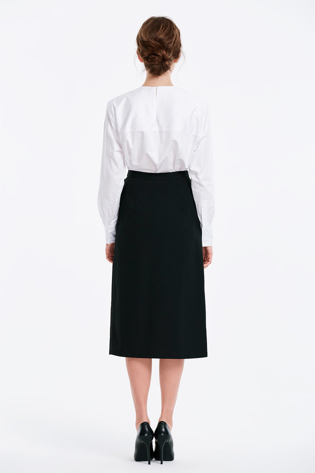 Wrap black skirt with a belt photo 5 - MustHave online store