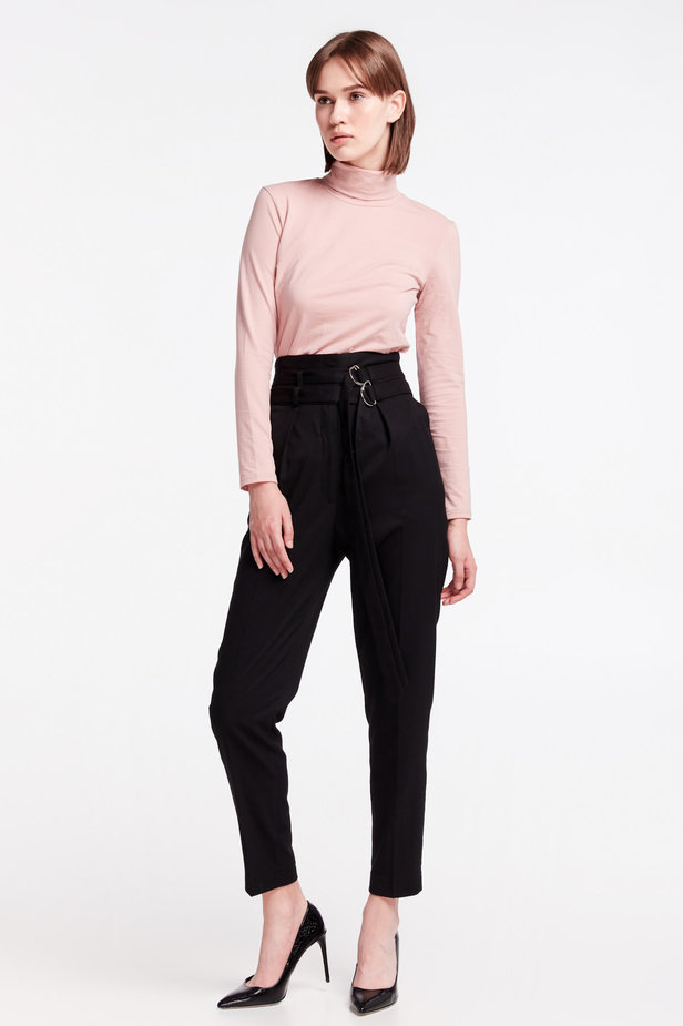 High-waisted black pants photo 4 - MustHave online store