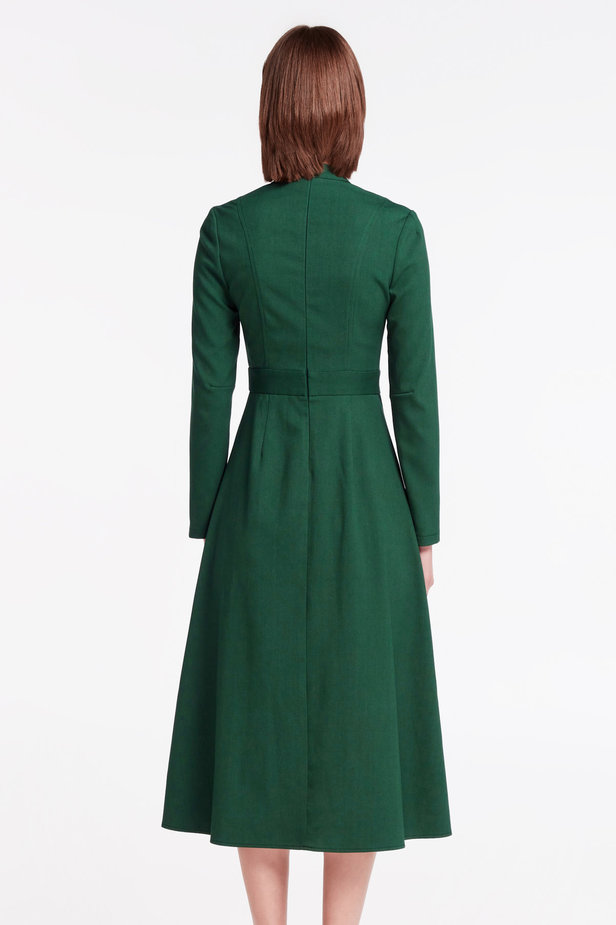 Green dress with a bow photo 4 - MustHave online store