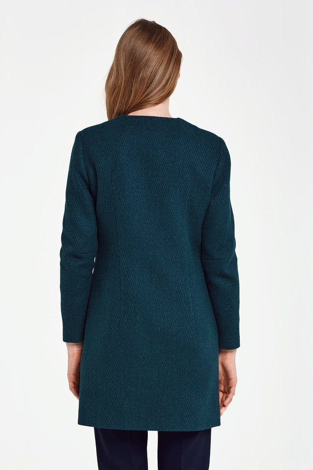 Long green jacket with lurex photo 4 - MustHave online store