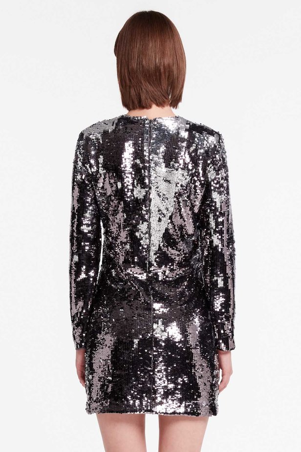Silver sequin dress photo 4 - MustHave online store