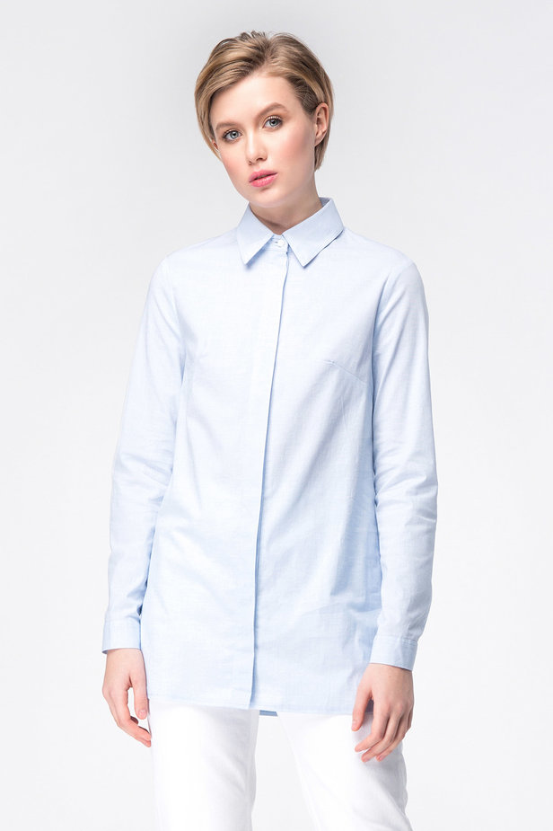 Blue long shirt photo 1 - MustHave online store
