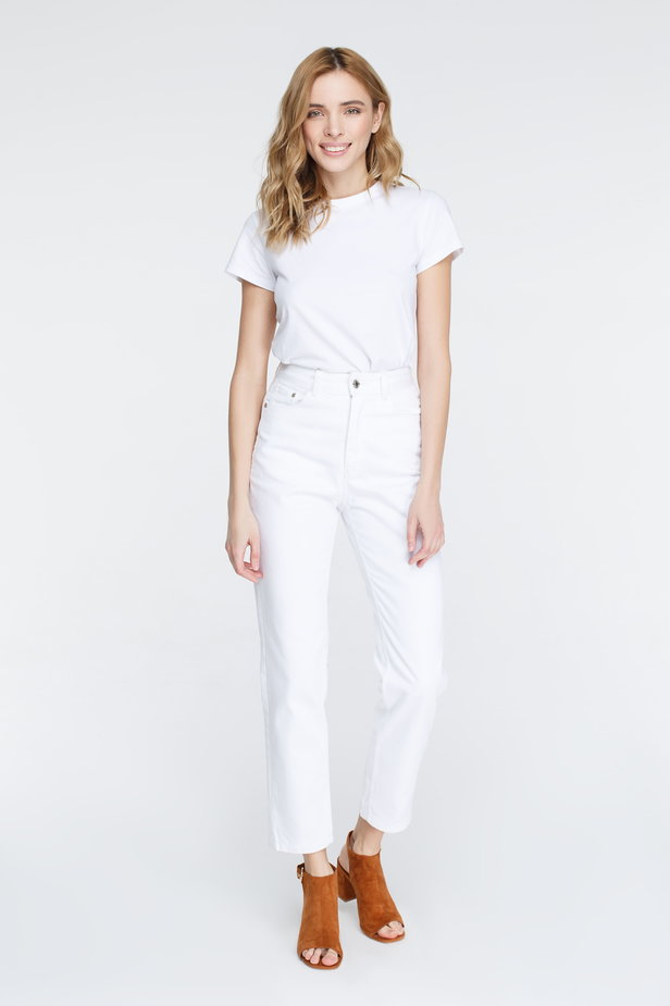 White mom fit jeans photo 2 - MustHave online store