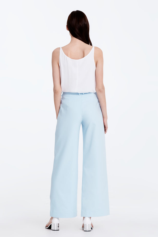 Wide leg blue trousers photo 6 - MustHave online store