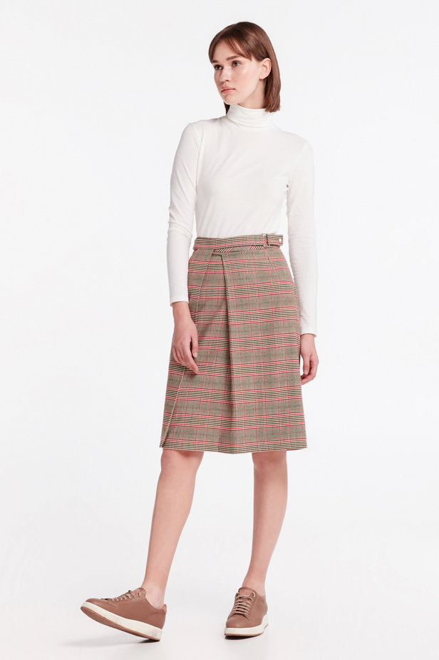 Checkered skirt with a pleat photo 7 - MustHave online store