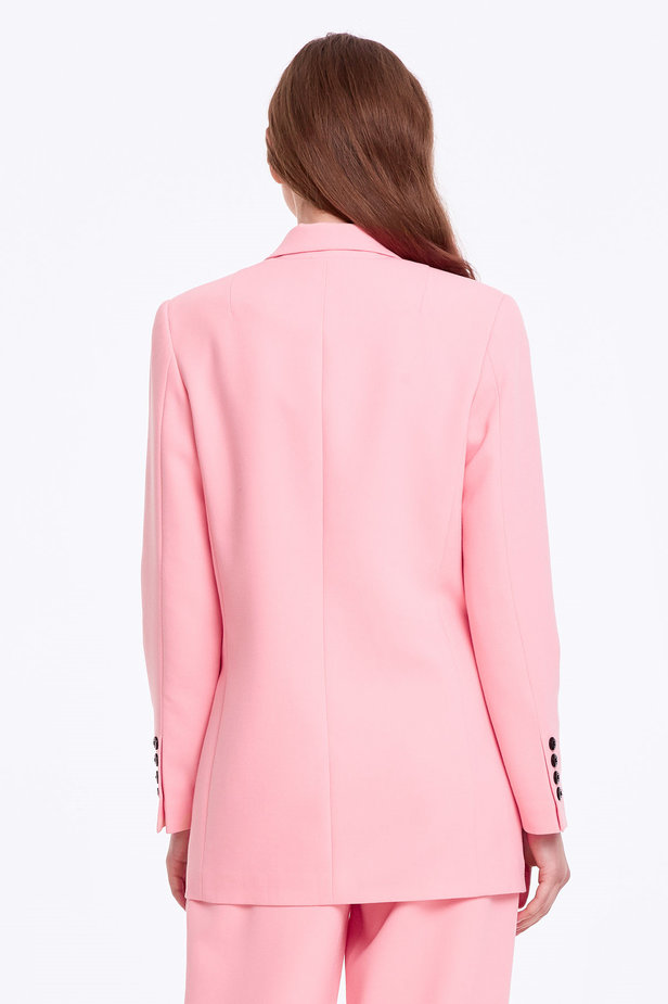 Double-breasted pink jacket with pockets photo 4 - MustHave online store