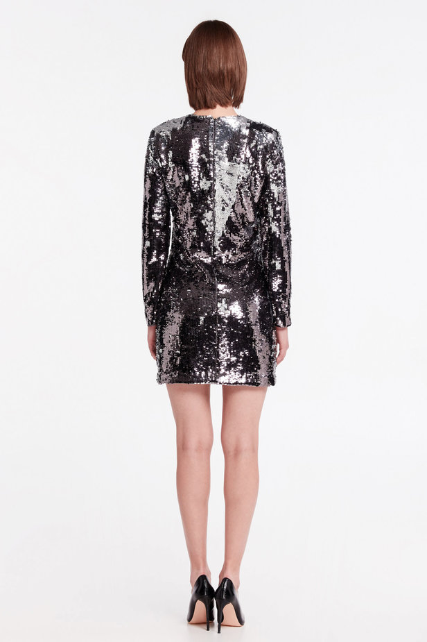 Silver sequin dress photo 5 - MustHave online store
