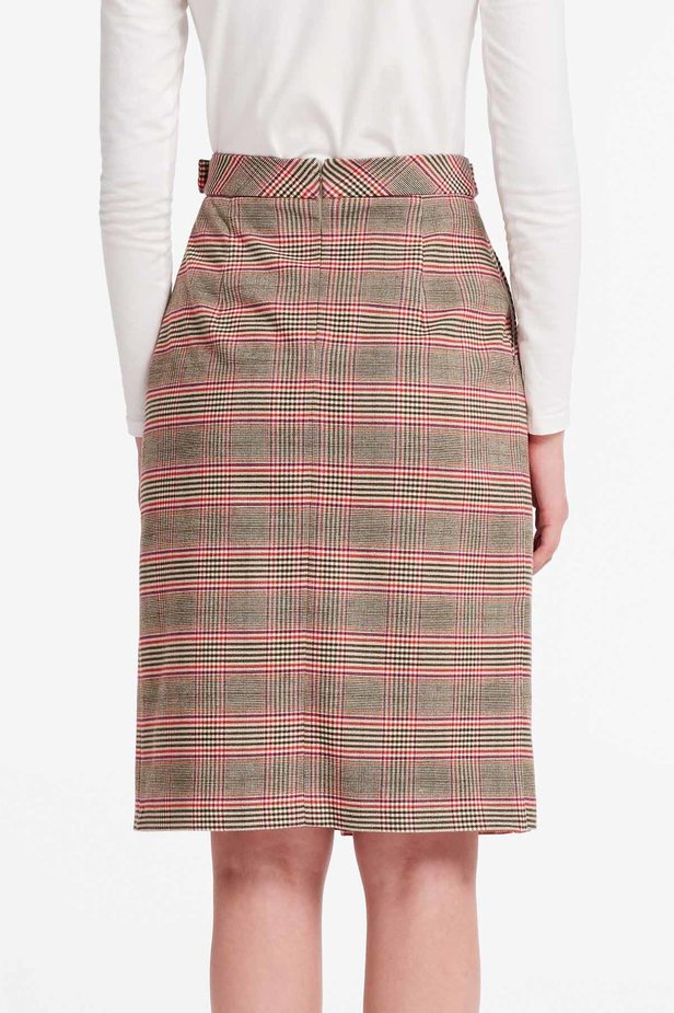 Checkered skirt with a pleat photo 2 - MustHave online store