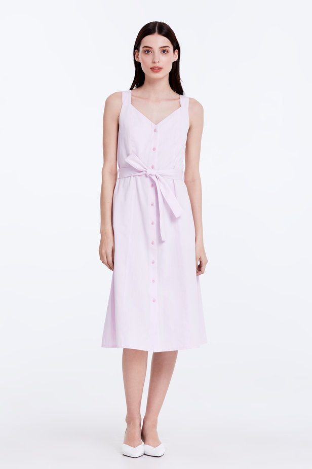 Light-pink sundress with a belt photo 2 - MustHave online store