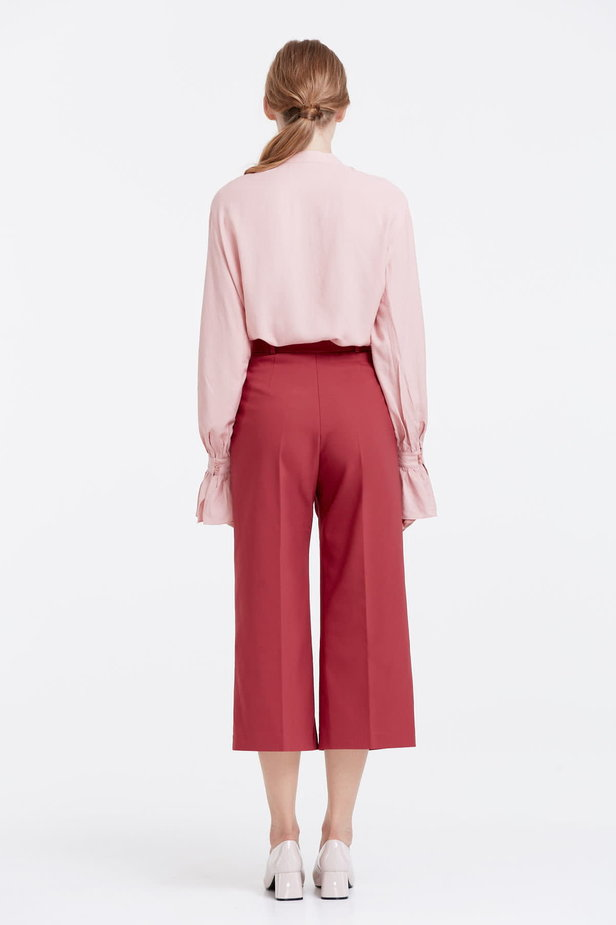 Wine red culottes photo 3 - MustHave online store