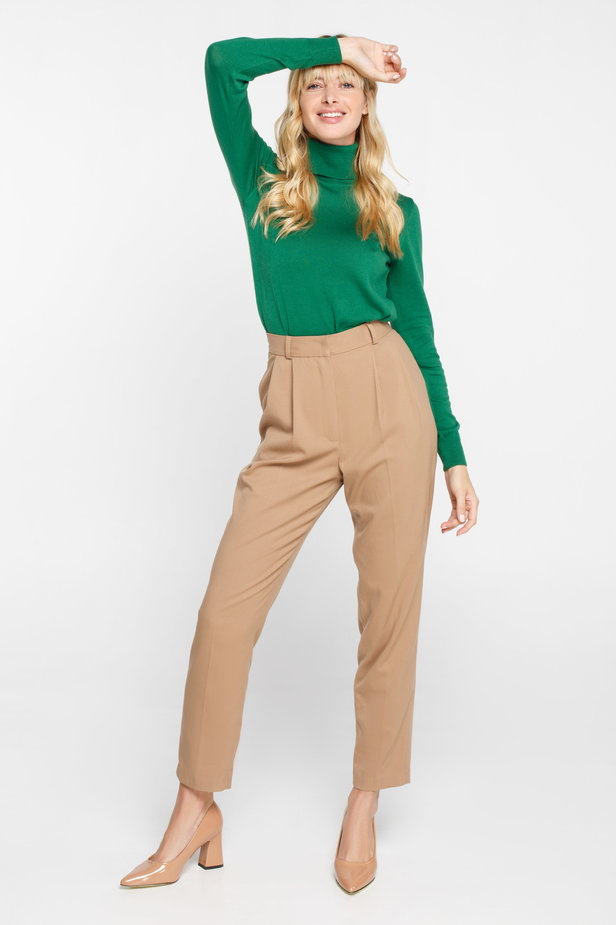 Green turtleneck with cotton photo 3 - MustHave online store