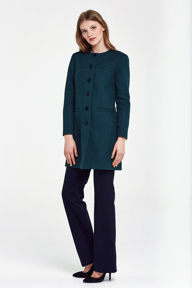 Long green jacket with lurex photo 3 - MustHave online store