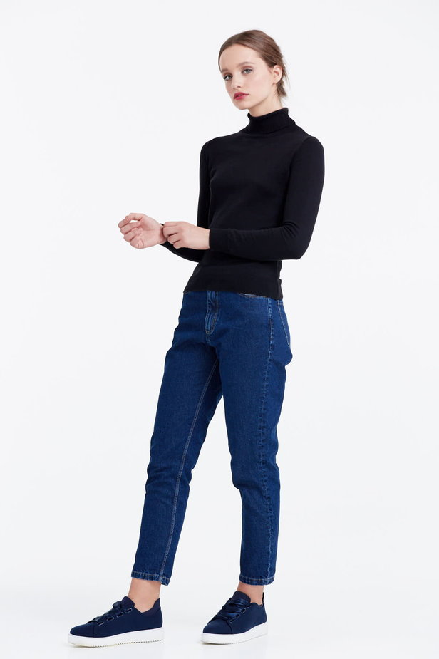Black polo neck photo 3 - MustHave online store