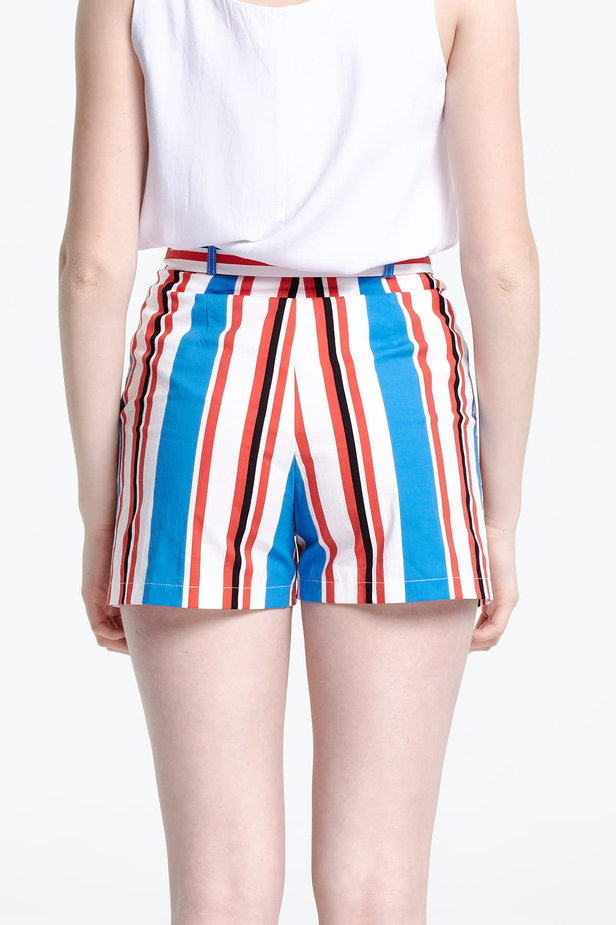 Shorts with blue and red stripes photo 4 - MustHave online store