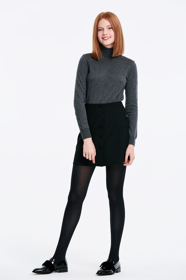Grey polo neck photo 2 - MustHave online store