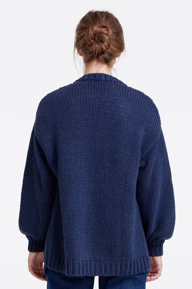 Swing dark blue cardigan photo 2 - MustHave online store