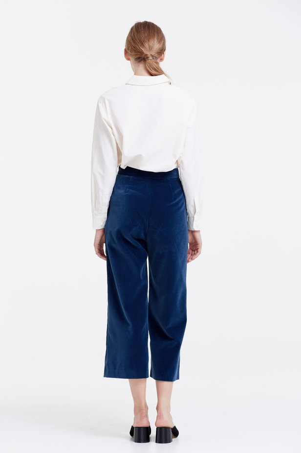 Blue velvet culottes photo 3 - MustHave online store