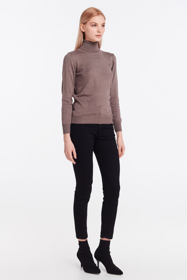 Brown knit polo neck photo 6 - MustHave online store