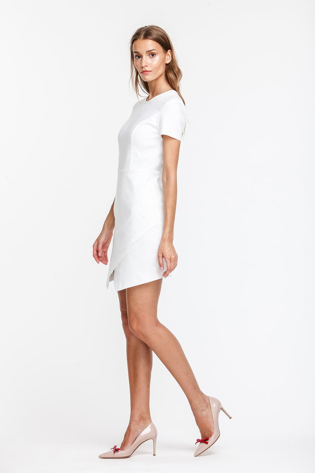 Wrap white dress photo 3 - MustHave online store