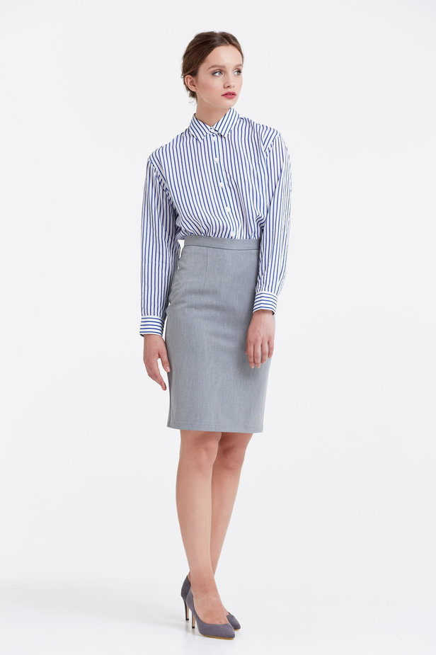 Above the knee grey pencil skirt photo 5 - MustHave online store