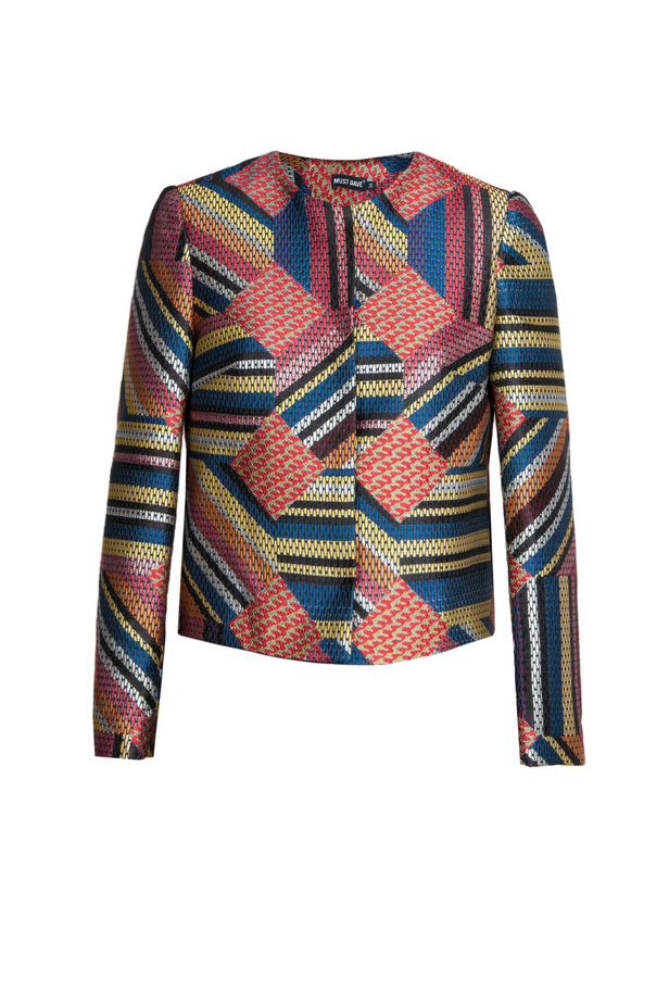 Short multicolored jacket with lurex photo 6 - MustHave online store