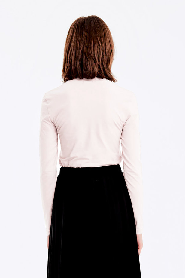 Milky polo neck photo 6 - MustHave online store