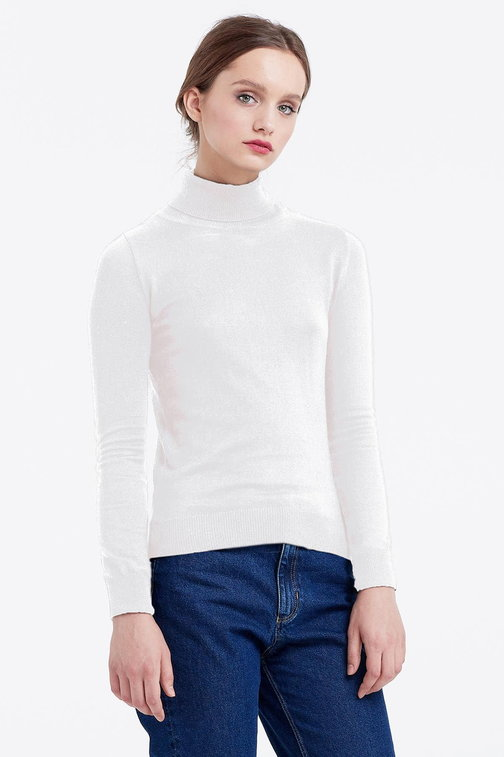 Milky polo neck