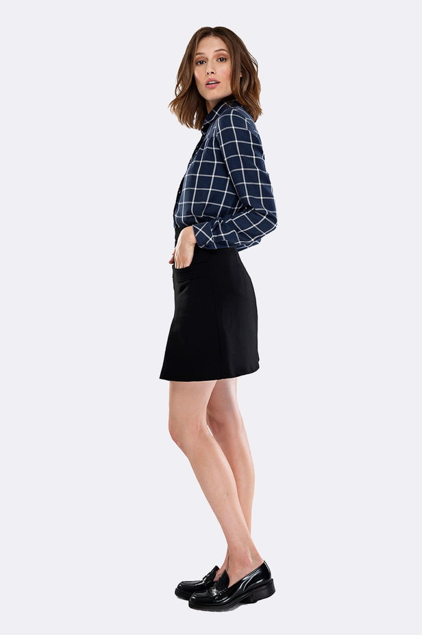 Checked shirt with pleats on the chest photo 5 - MustHave online store