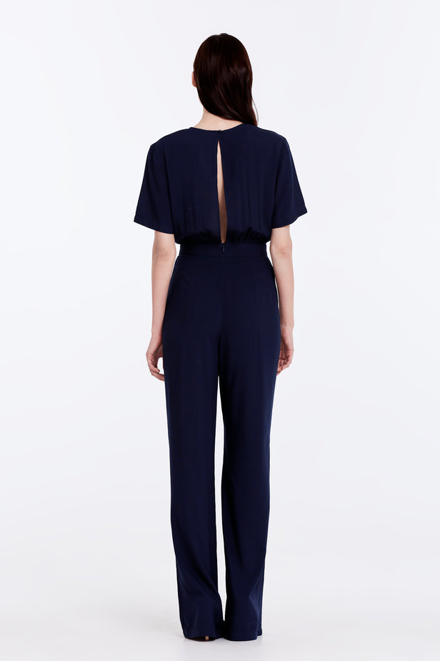 Dark-blue jumpsuit photo 4 - MustHave online store