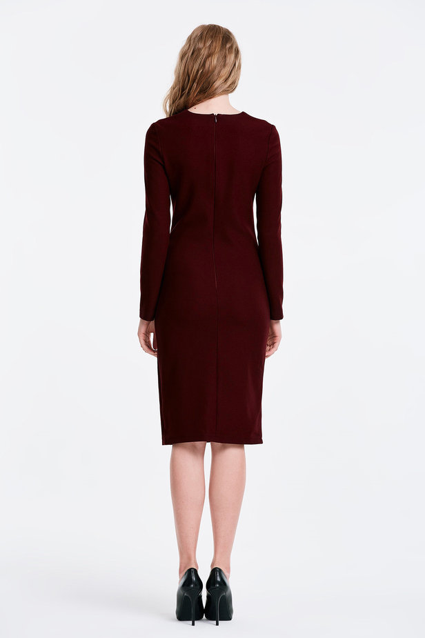 Column wine dress photo 5 - MustHave online store