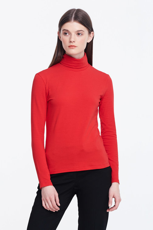 Red polo neck
