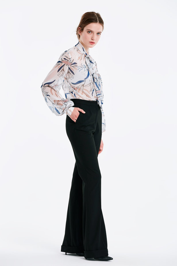 Flared black trousers photo 3 - MustHave online store