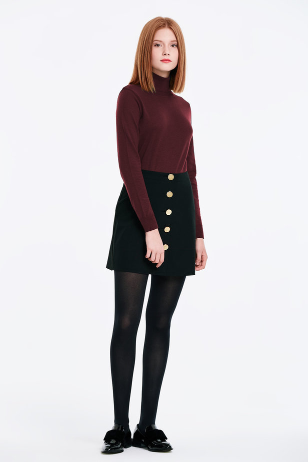 Burgundy polo neck photo 3 - MustHave online store