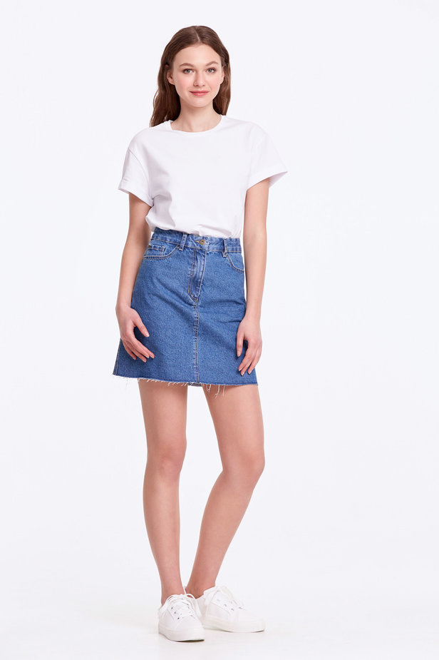 Mini denim skirt photo 5 - MustHave online store