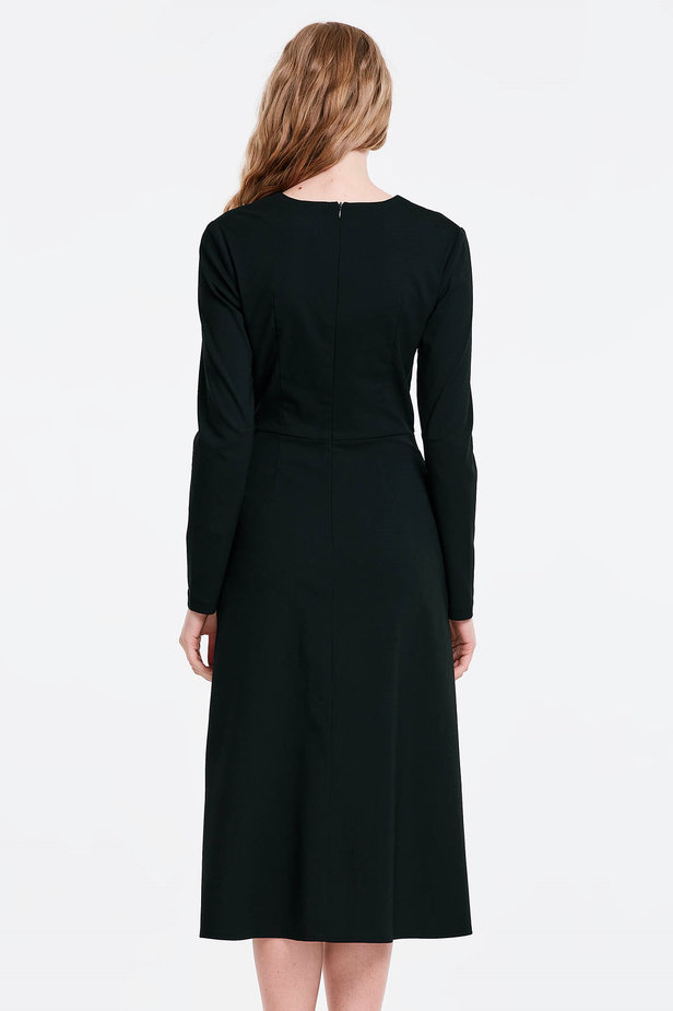 V-neck black dress photo 2 - MustHave online store