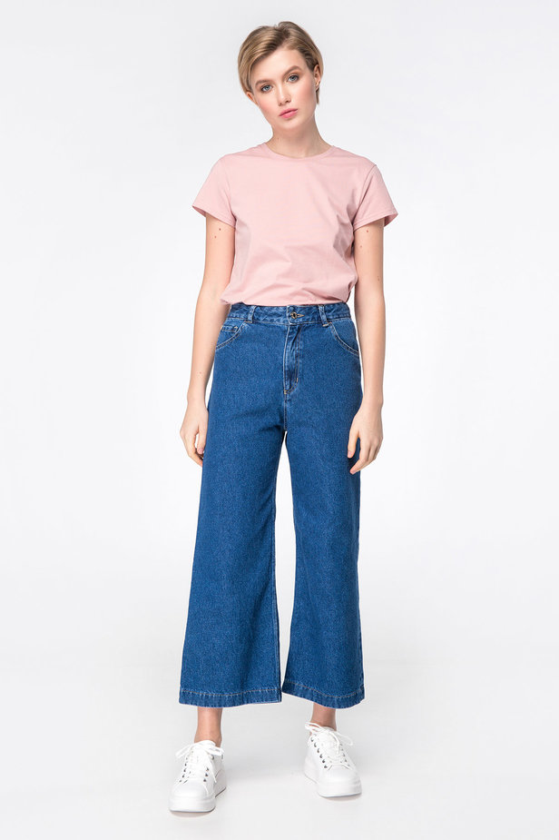 Blue jeans-culottes photo 2 - MustHave online store