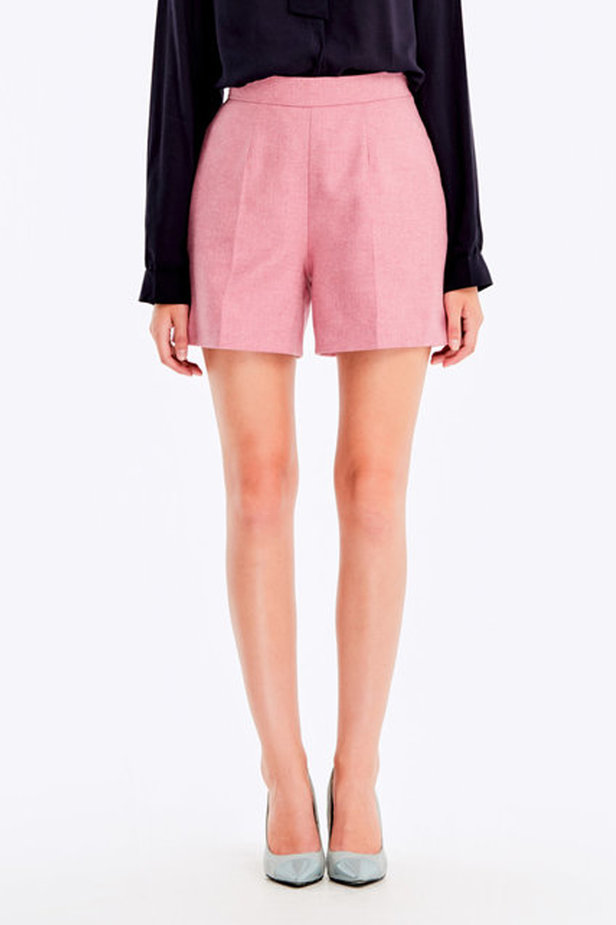 Pink shorts with herringbone print photo 1 - MustHave online store