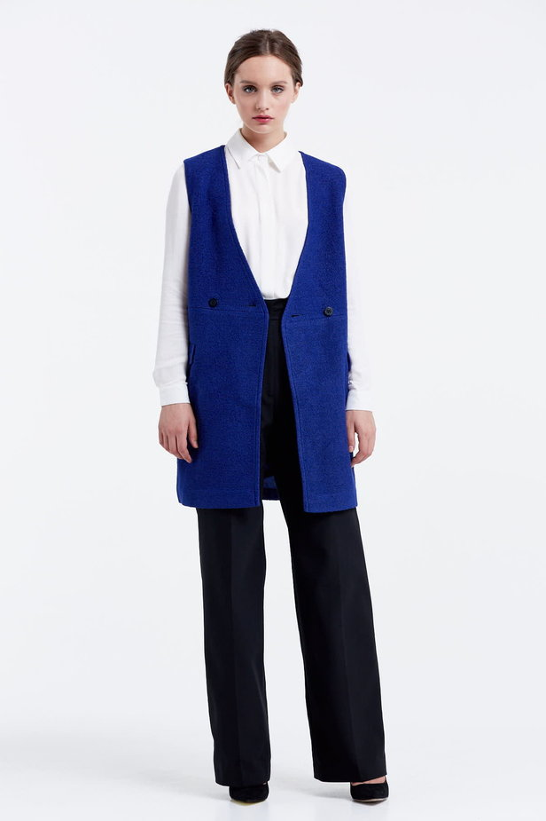 Long blue vest photo 5 - MustHave online store