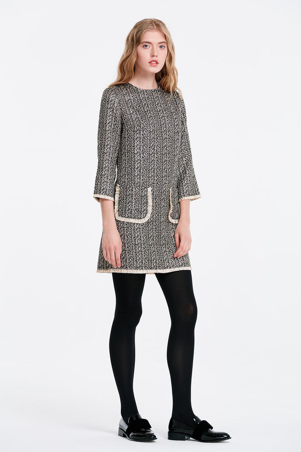 Dress with lurex and pockets photo 4 - MustHave online store