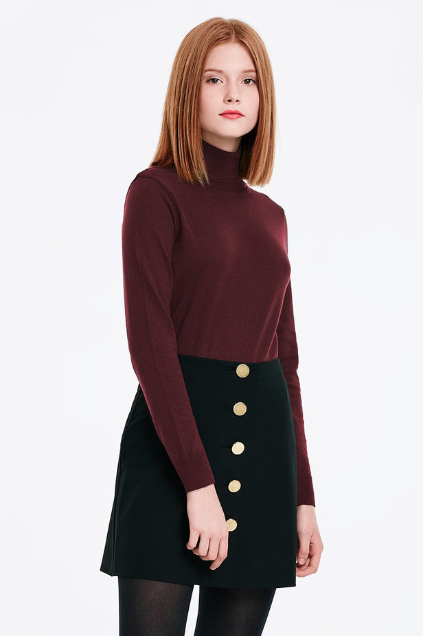 Burgundy polo neck photo 1 - MustHave online store