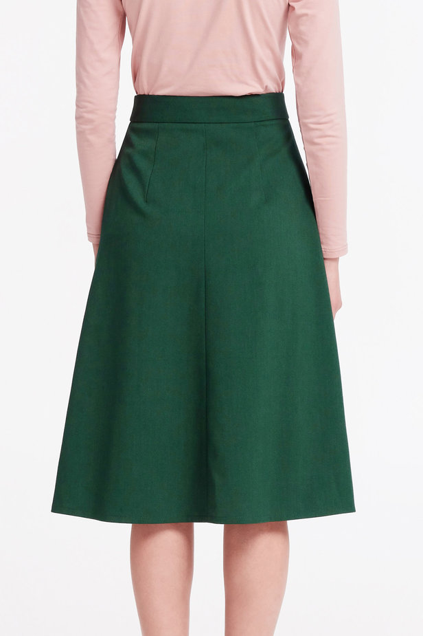 Green midi dress with a front zip photo 3 - MustHave online store