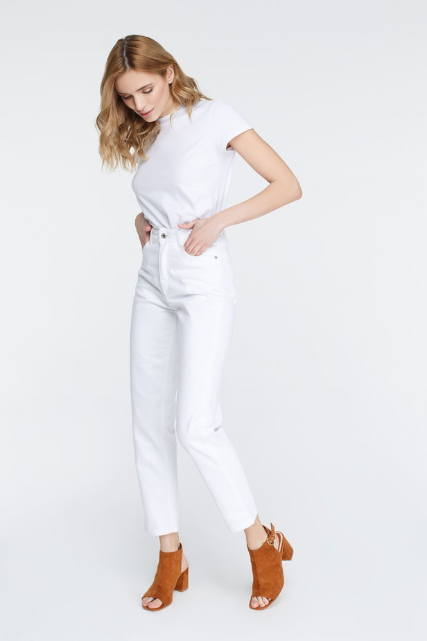 White mom fit jeans photo 4 - MustHave online store